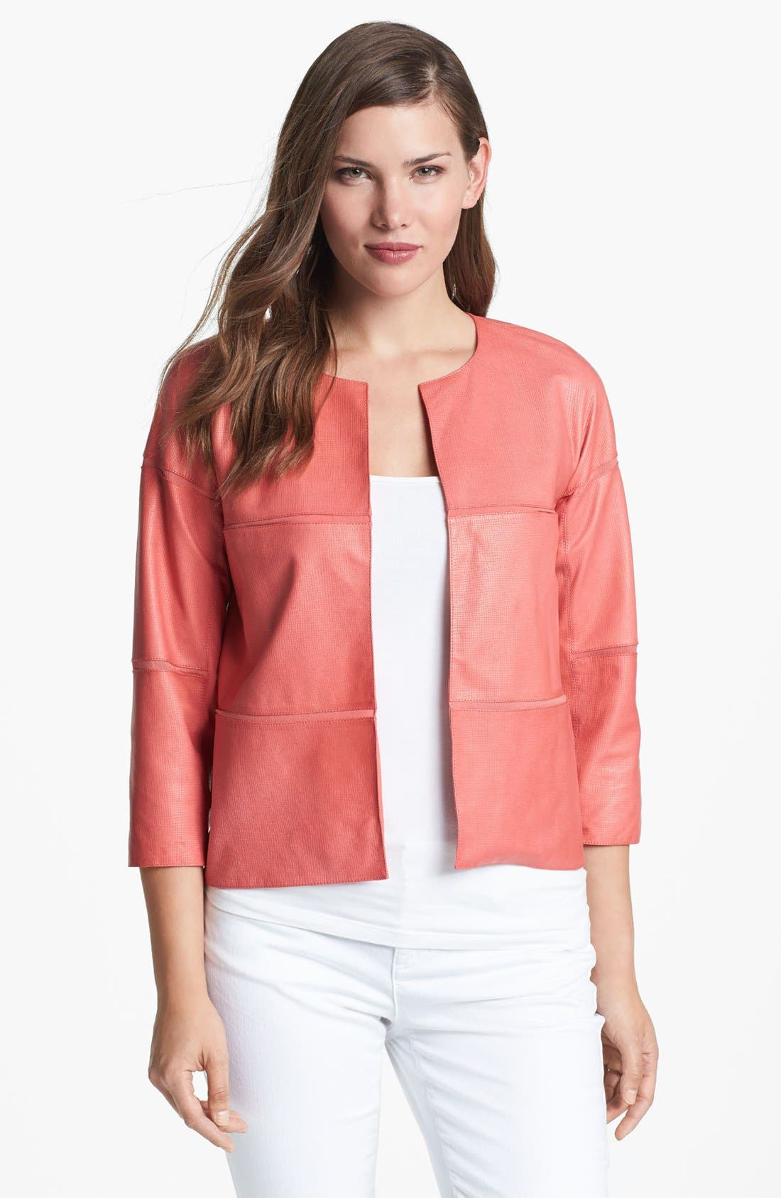 Alternate Image 1 Selected - Lafayette 148 New York Lambskin Leather Jacket