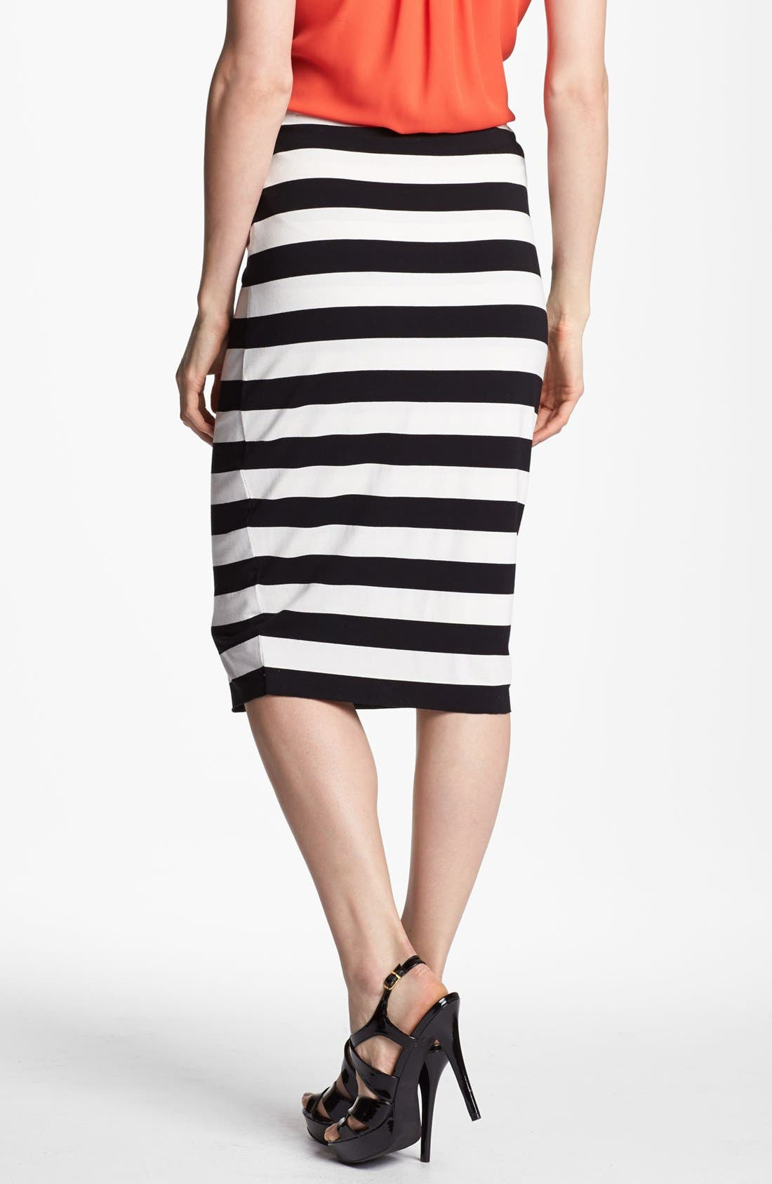 Alternate Image 2  - Vince Camuto Stripe Midi Tube Skirt