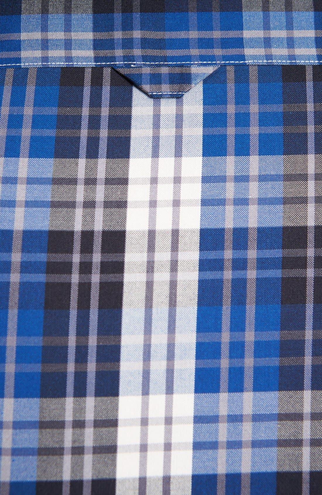 Alternate Image 3  - Nordstrom Smartcare™ Plaid Oxford Sport Shirt