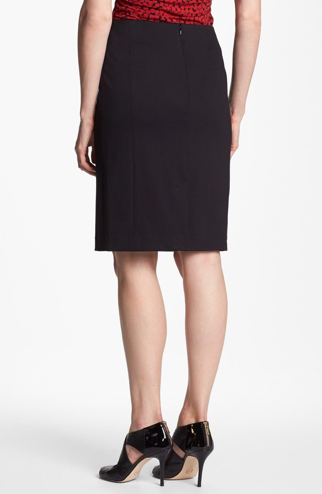 Alternate Image 3  - Halogen® Quilted Front Ponte Knit Pencil Skirt