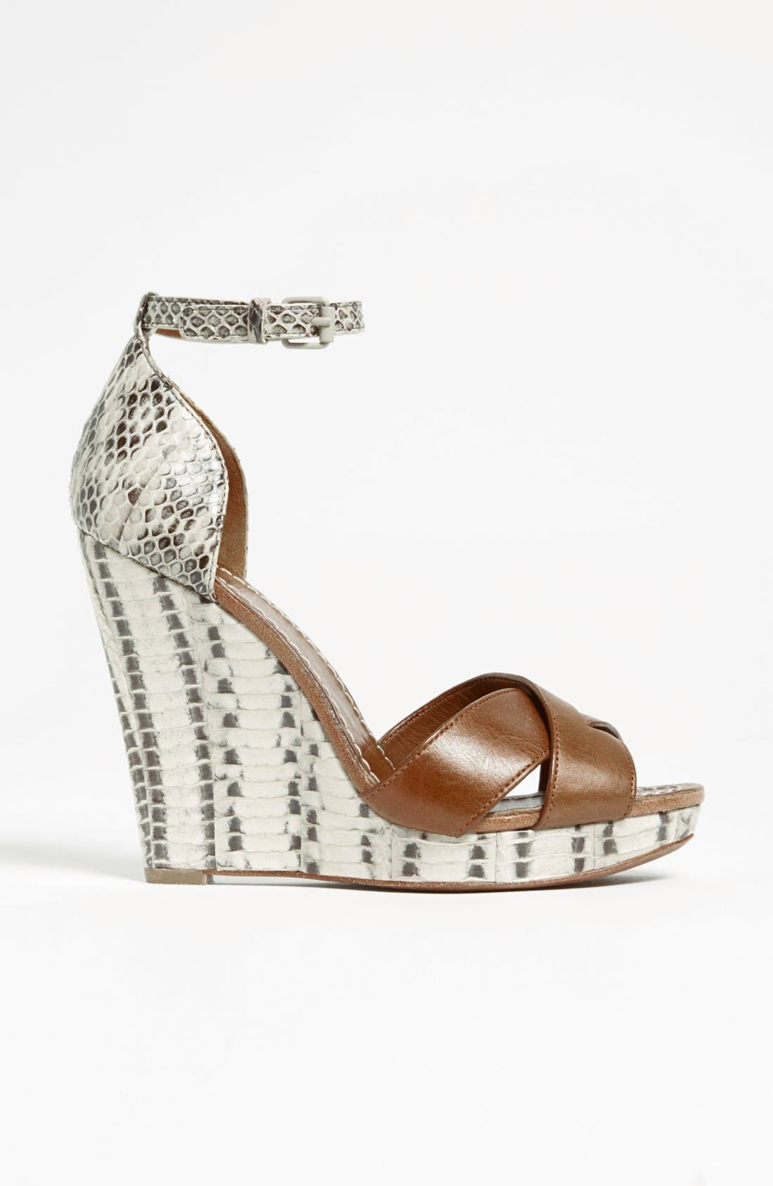 Alternate Image 4  - Tory Burch 'Livia' Genuine Snakeskin Wedge Sandal
