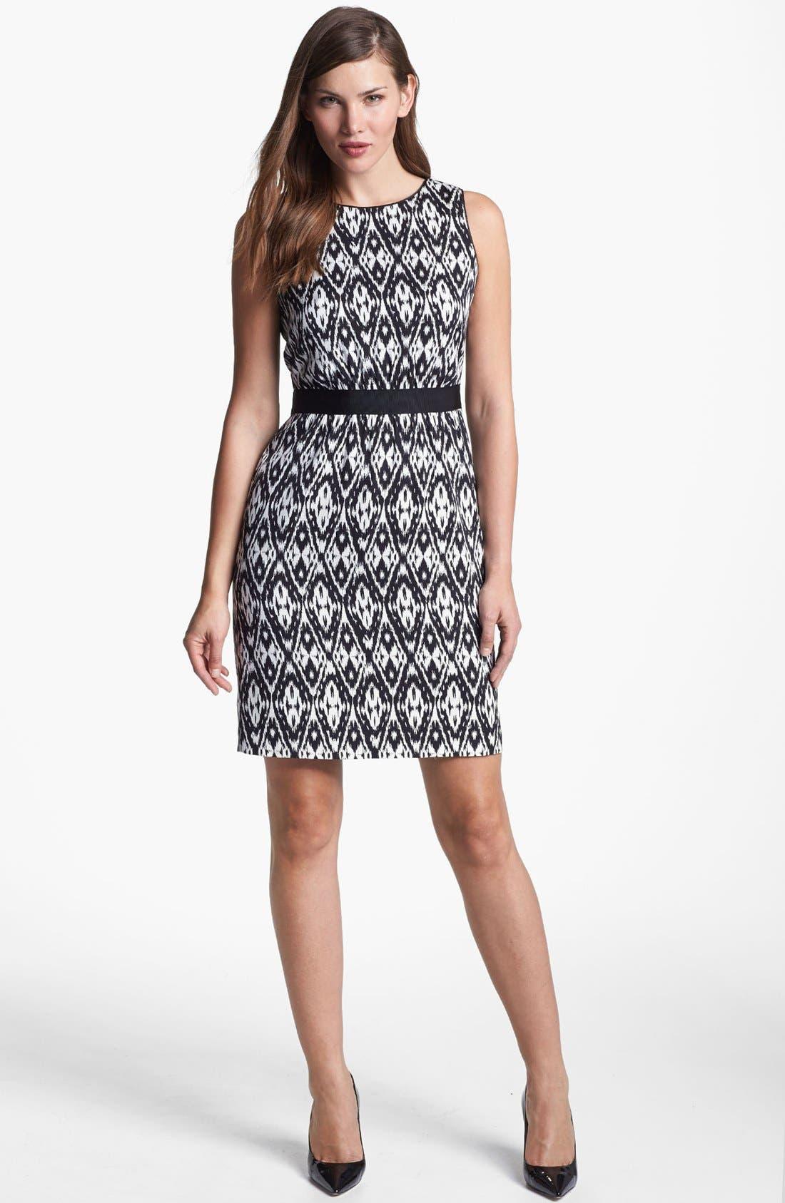 Main Image - Classiques Entier® Print Stretch Sheath Silk Dress