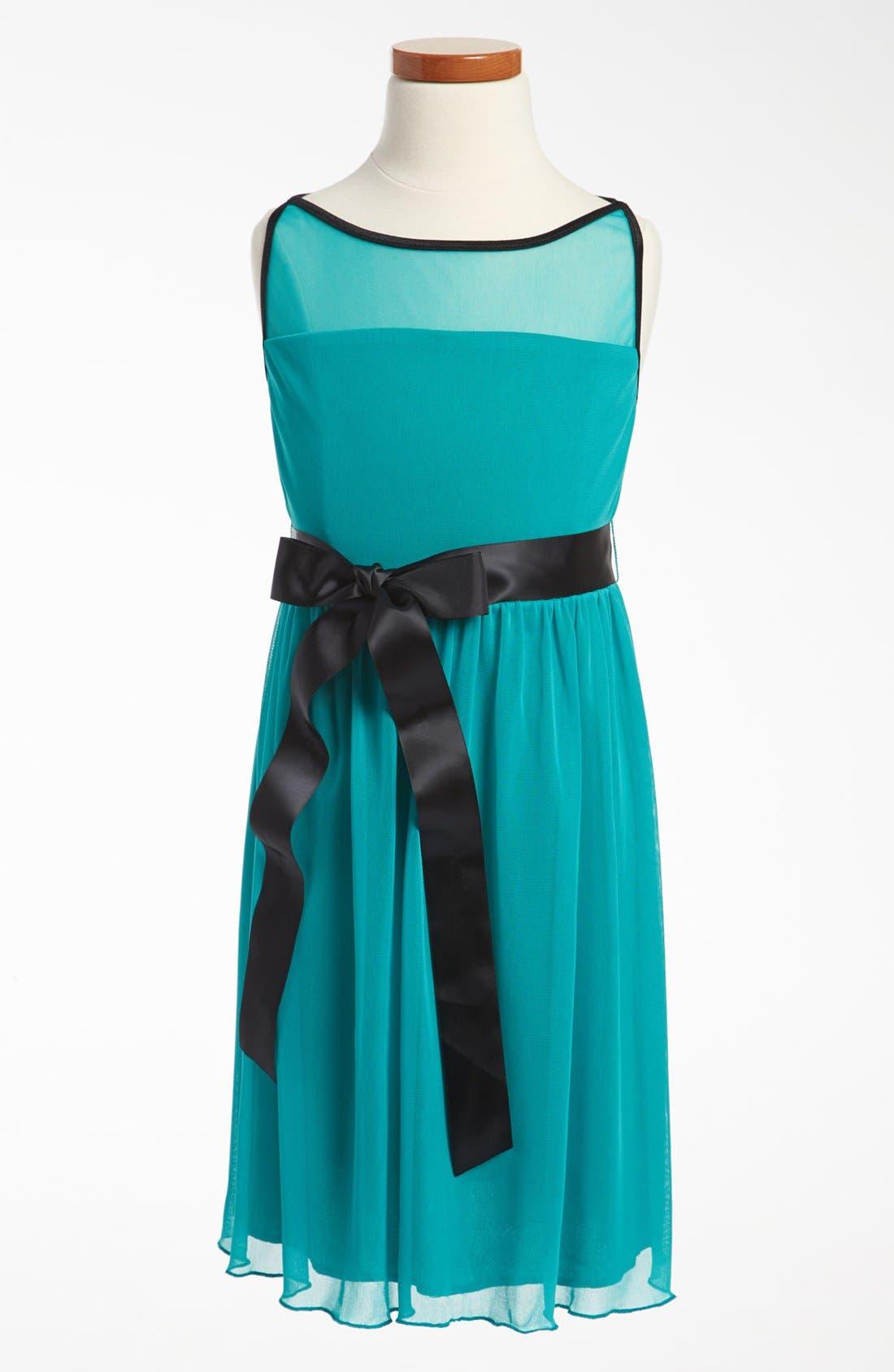Main Image - Roxette Illusion Yoke Dress (Big Girls)