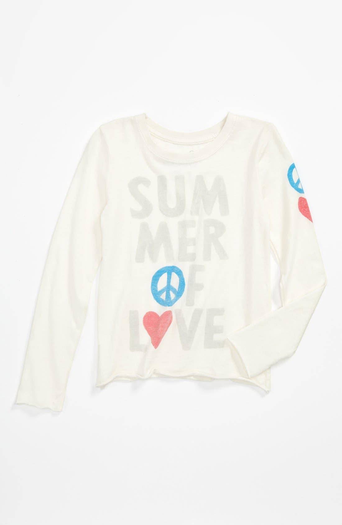 Alternate Image 1 Selected - Peek 'Summer of Love' Tee (Toddler, Little Girls & Big Girls)