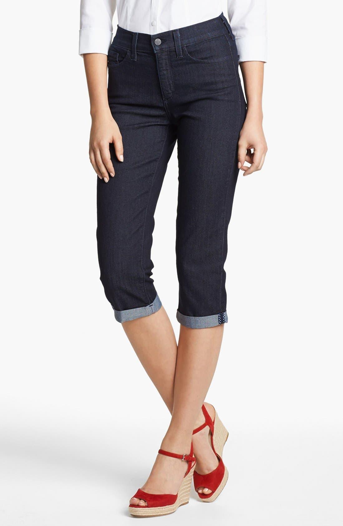 Main Image - NYDJ 'Fiona' Roll Cuff Crop Stretch Jeans