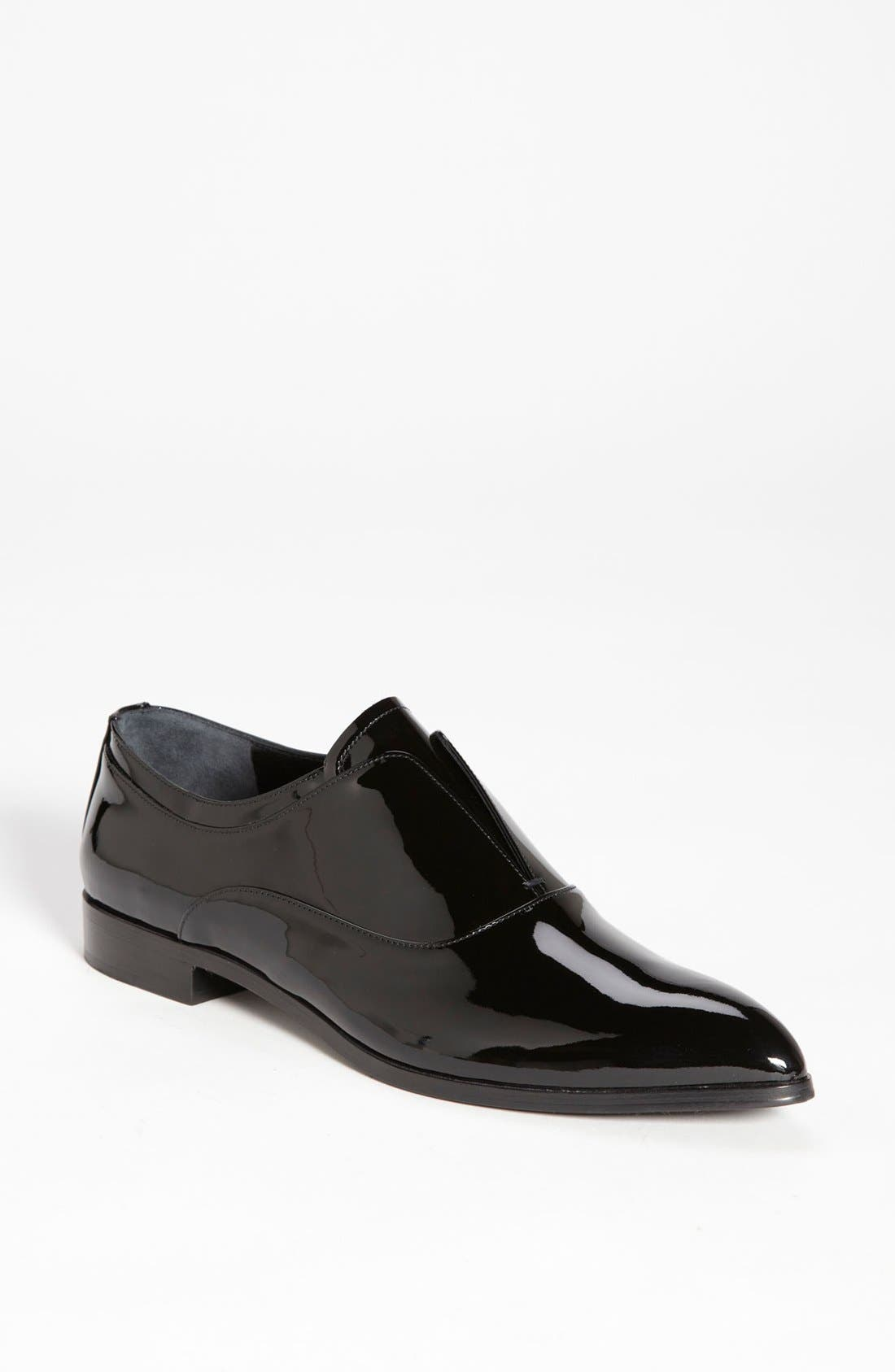 Main Image - Prada Laceless Pointy Toe Oxford