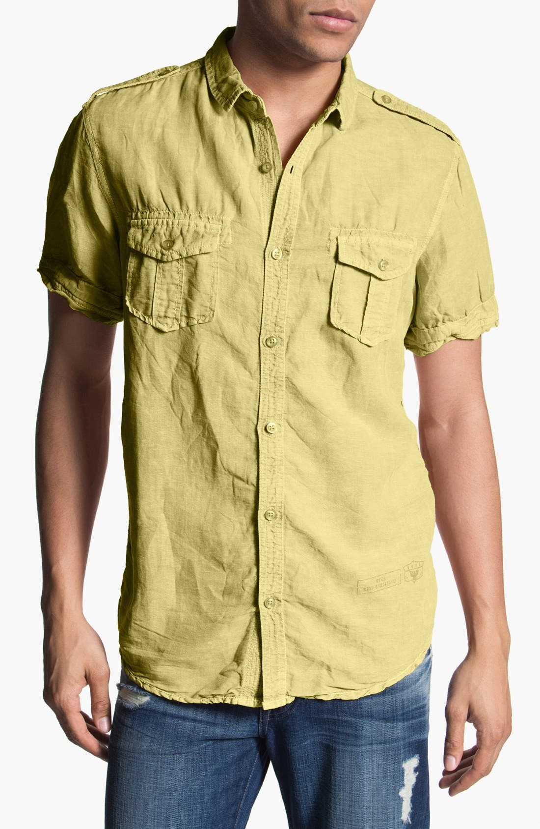Alternate Image 1 Selected - Nove 'Miami' Short Sleeve Linen Blend Shirt
