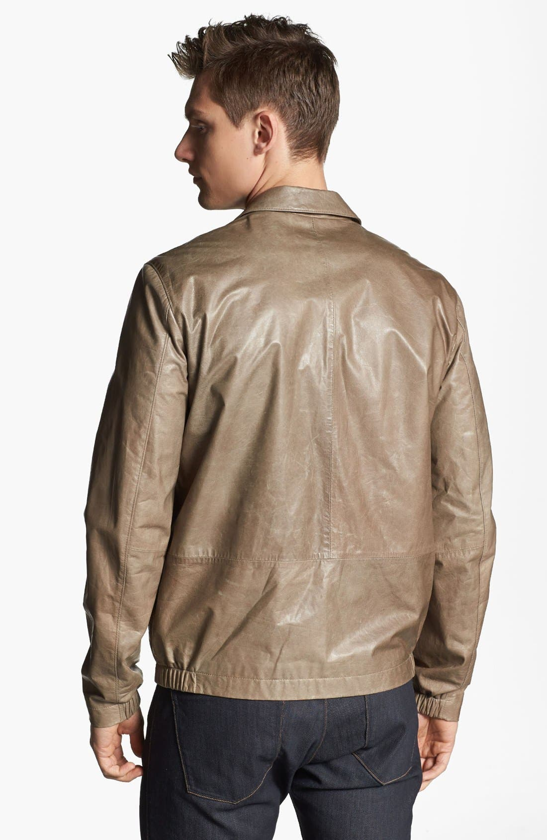 Alternate Image 2  - Theory 'Ion L Laubert' Leather Jacket