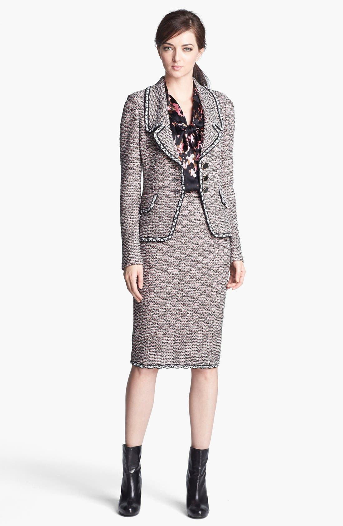 Alternate Image 3  - St. John Collection Linked Trim Abstract Tweed Jacket