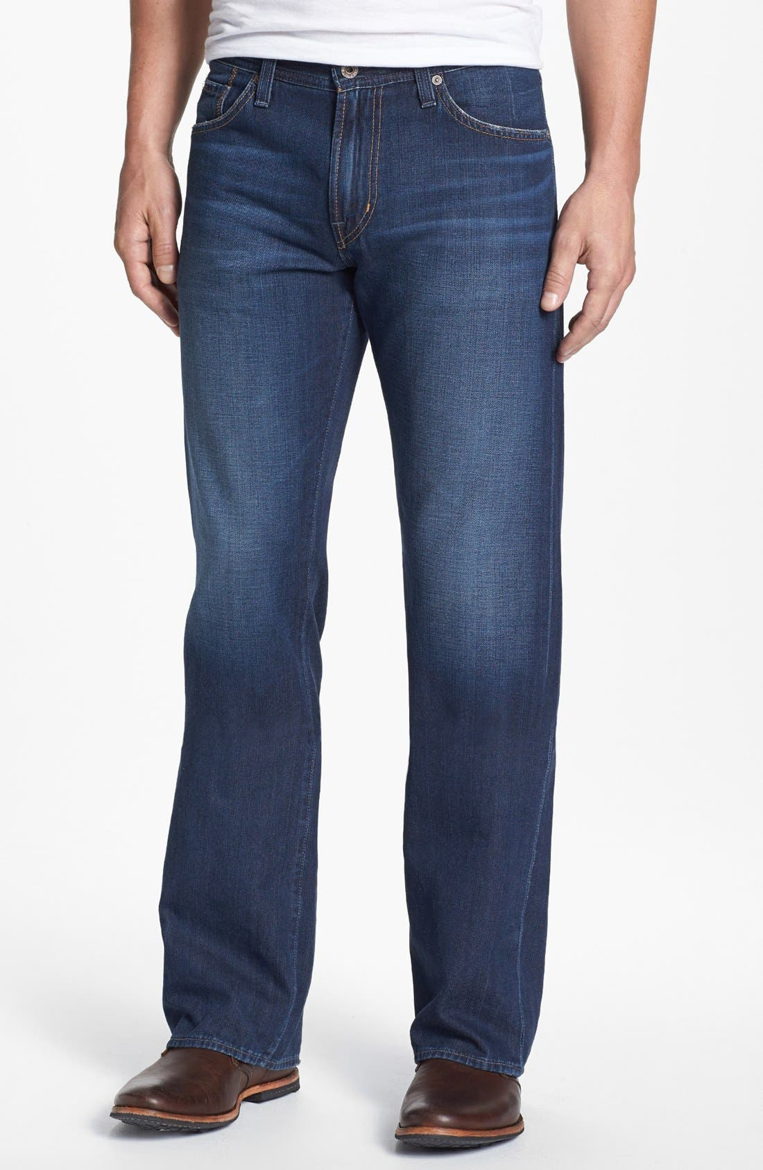Alternate Image 1 Selected - AG 'Hero' Relaxed Fit Jeans (Parkway)