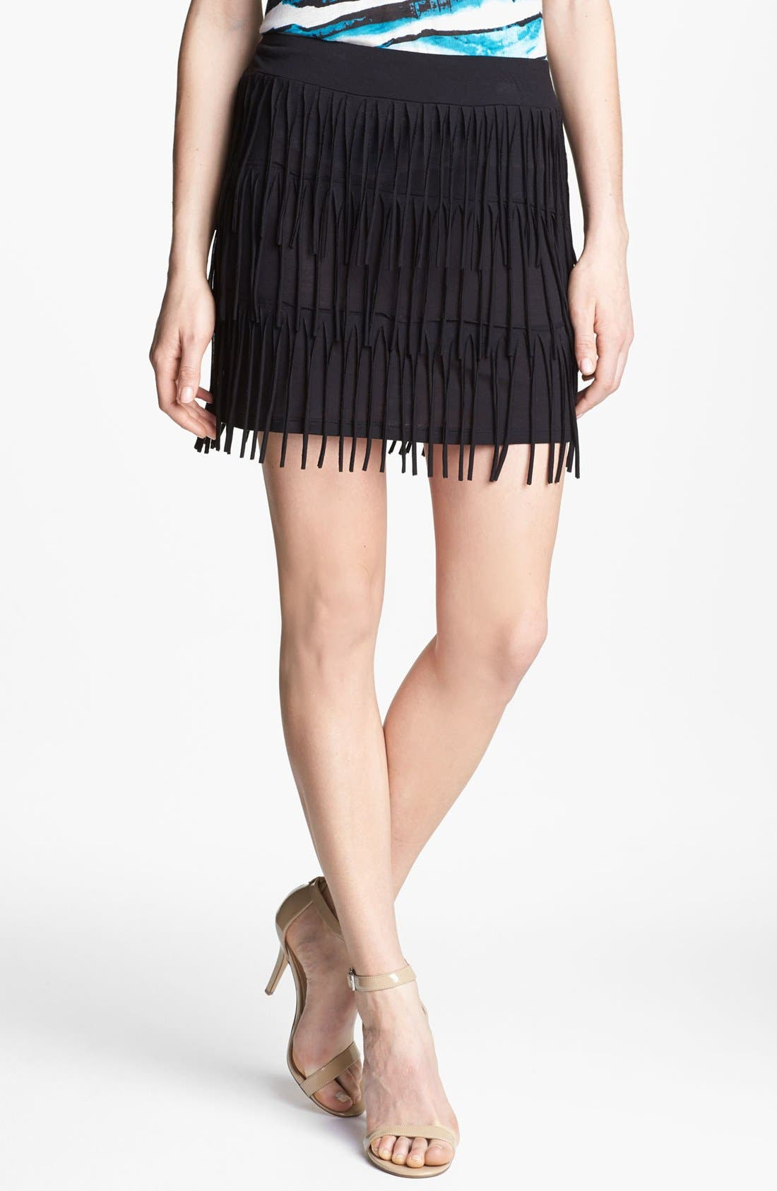 Alternate Image 1 Selected - Kensie Fringe Skirt