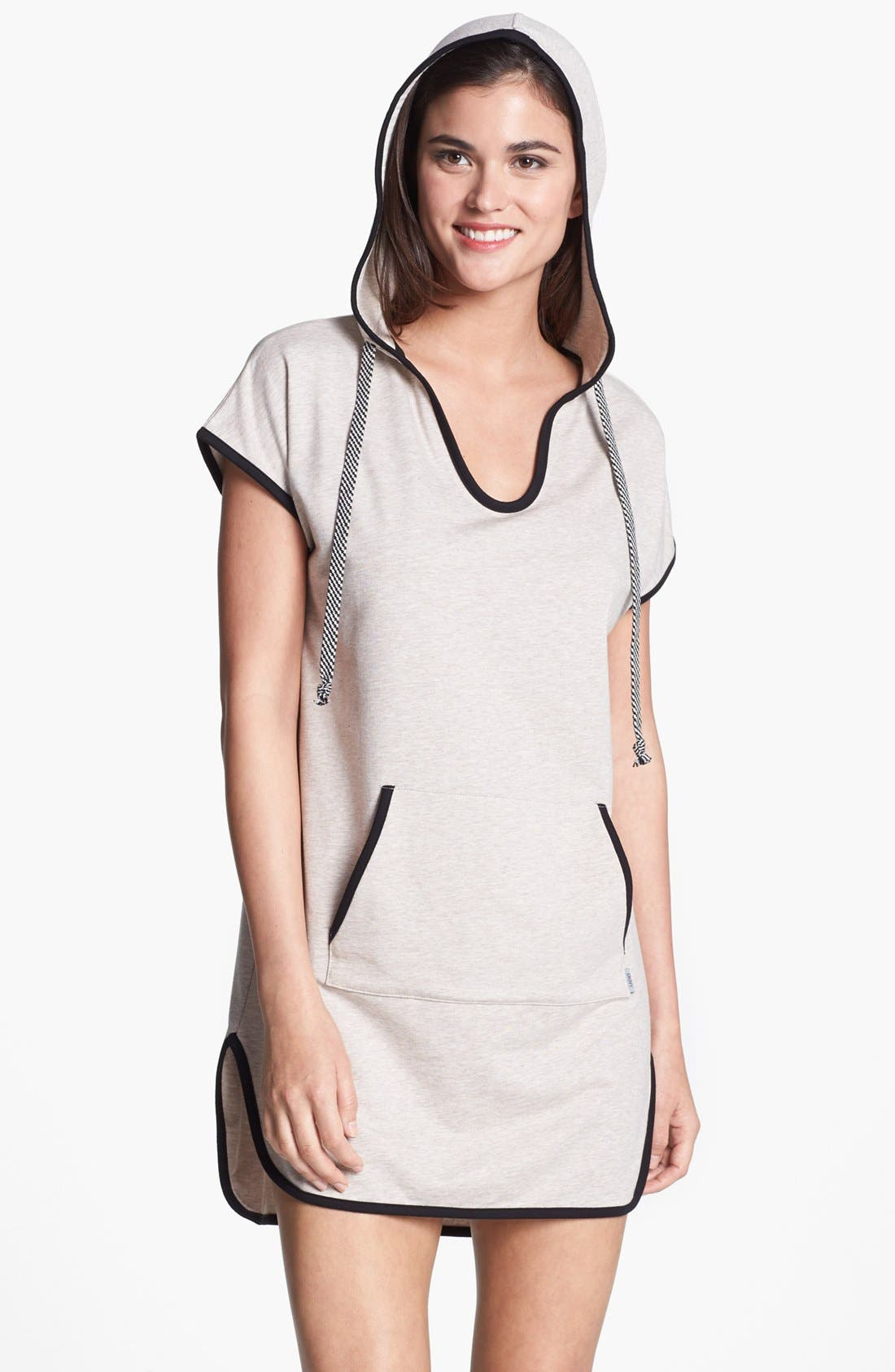 Alternate Image 1 Selected - DKNY 'Poolside' Hooded Tunic