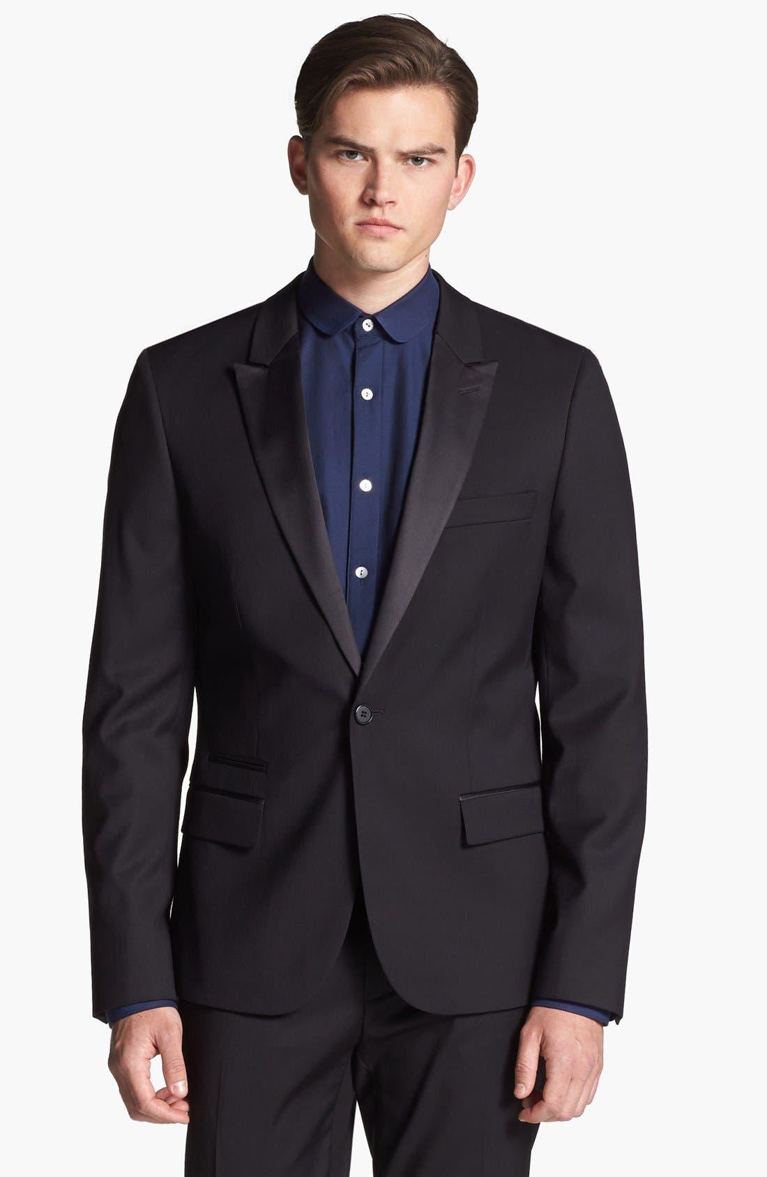 Main Image - Topman Slim Fit Tuxedo Jacket
