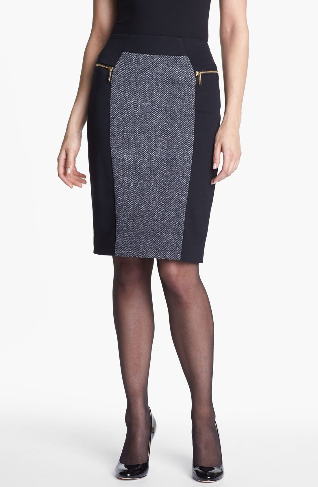 Alternate Image 1 Selected - MICHAEL Michael Kors Colorblock Ponte Skirt