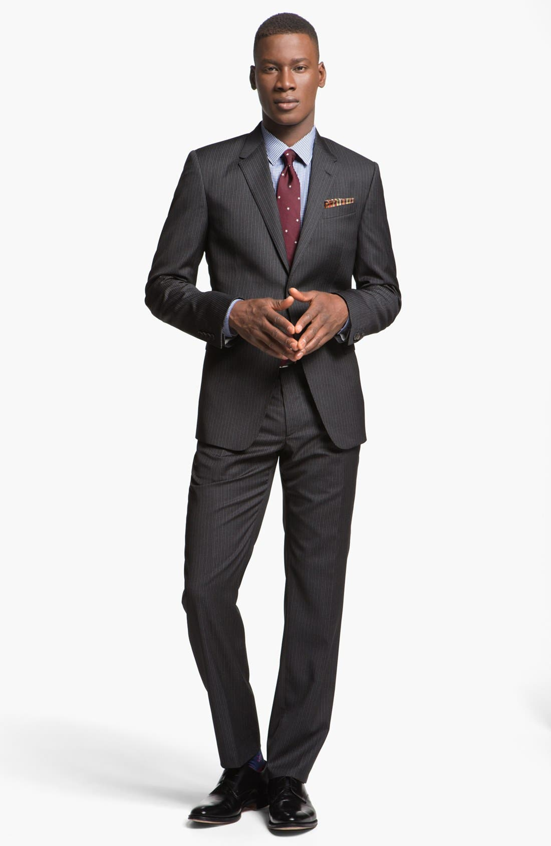 Alternate Image 1 Selected - Paul Smith London Slim Fit Shadow Pinstripe Wool Suit
