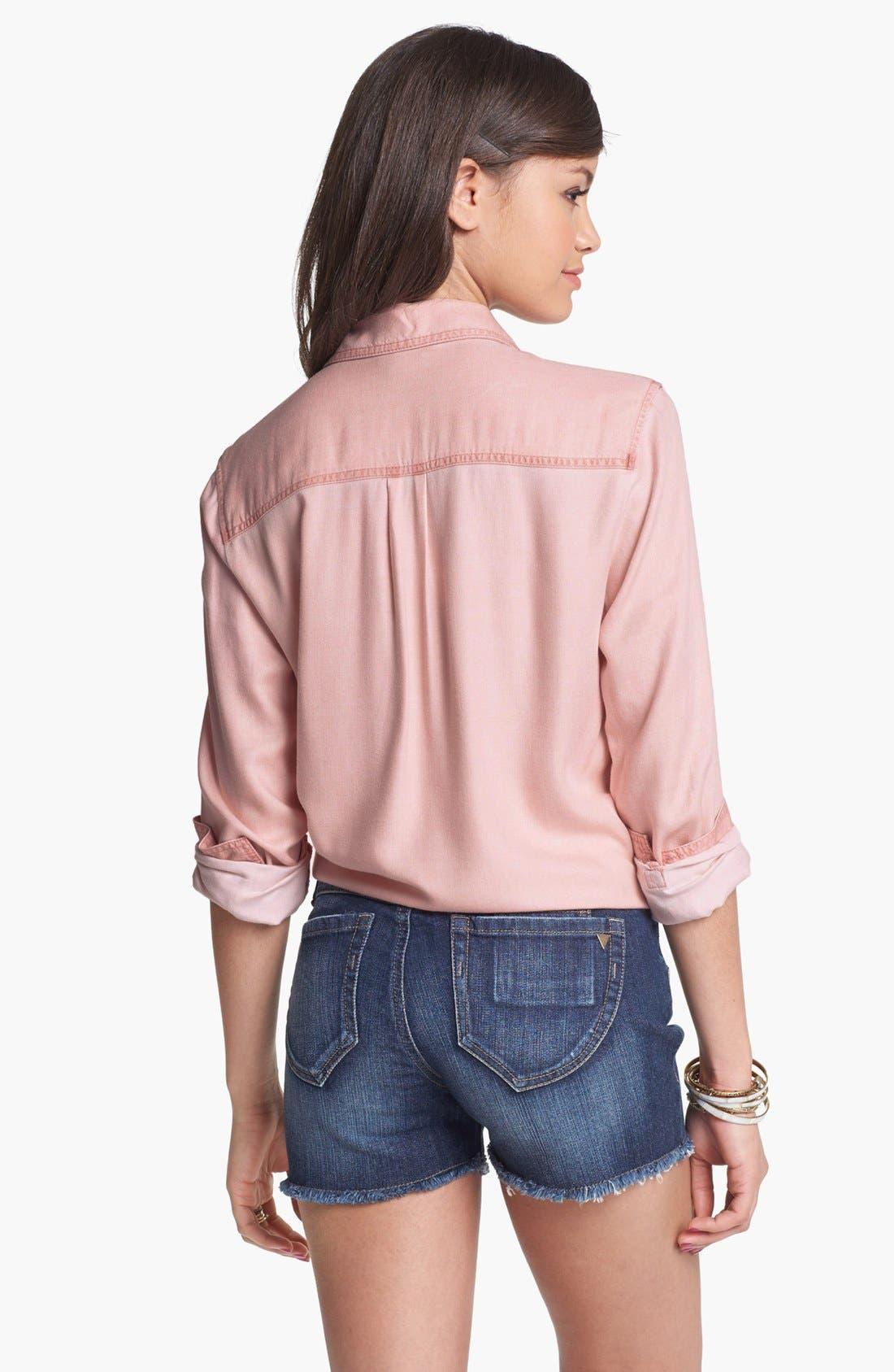 Alternate Image 2  - Rubbish Oversized Menswear Shirt (Juniors)