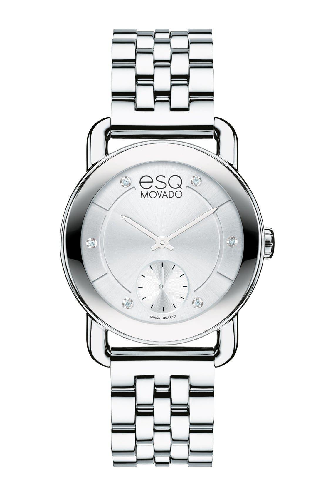Alternate Image 1 Selected - ESQ Movado 'Classica' Round Bracelet Watch, 30mm