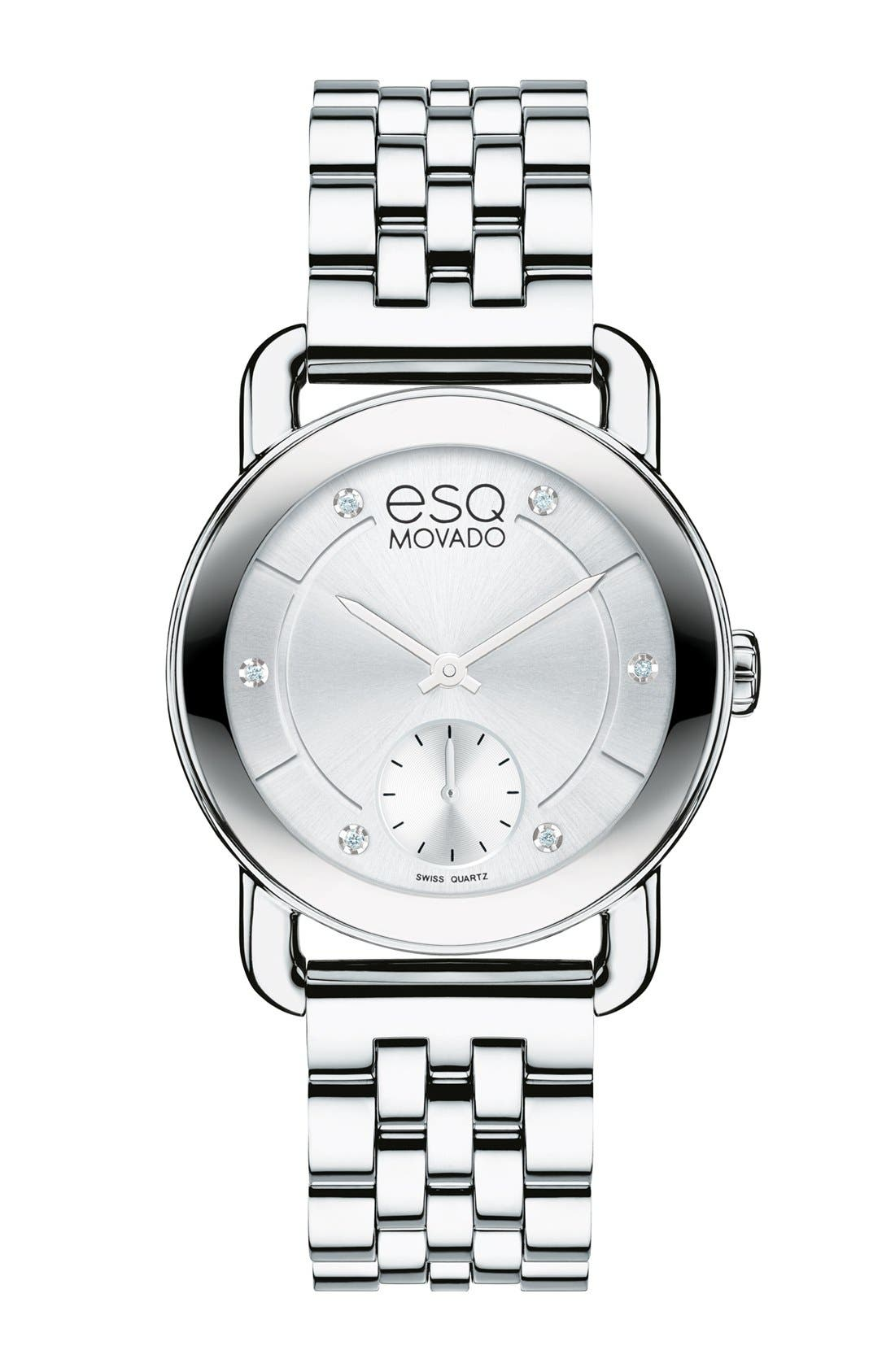 Main Image - ESQ Movado 'Classica' Round Bracelet Watch, 30mm