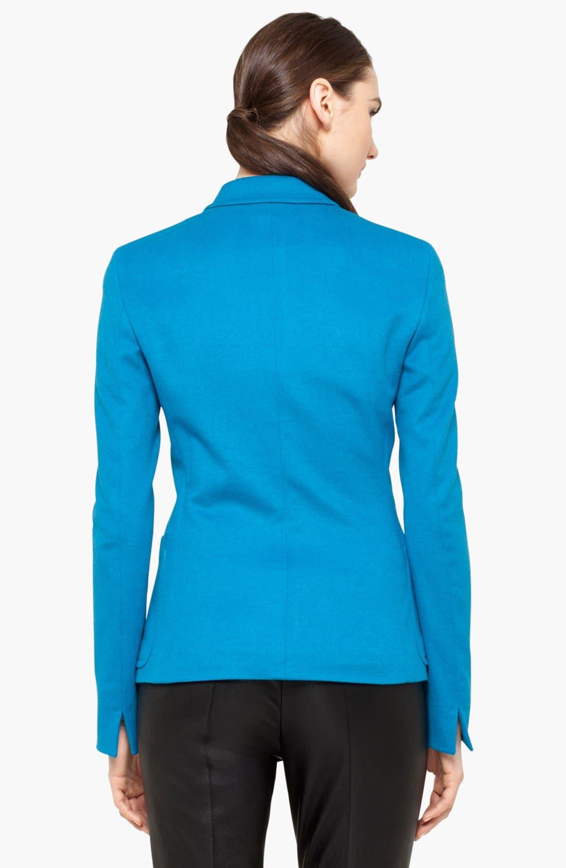 Alternate Image 2  - Akris punto Wool Blend Two Button Blazer