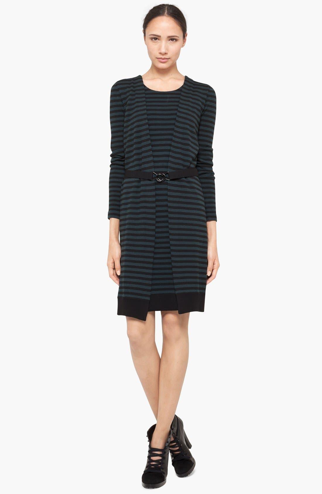 Alternate Image 1 Selected - Akris punto Stripe Layered Wool Dress