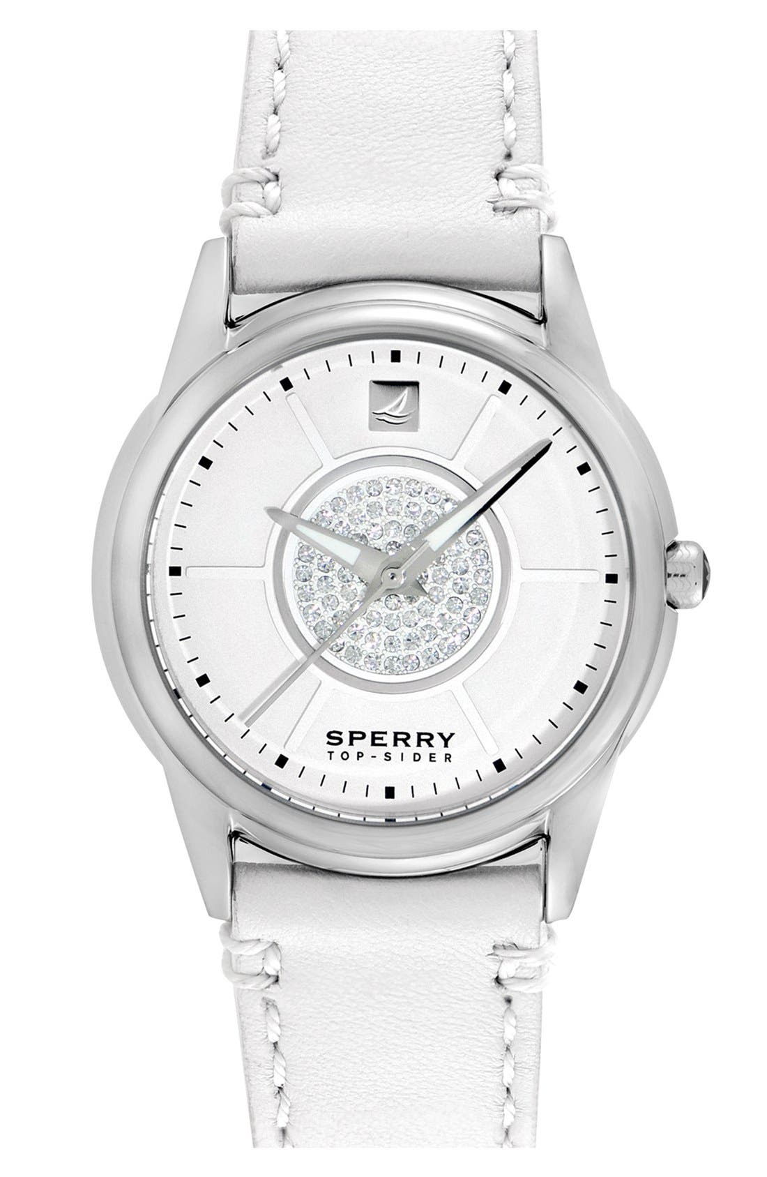 Main Image - Sperry Top-Sider® 'Audrey' Leather Strap Watch, 38mm