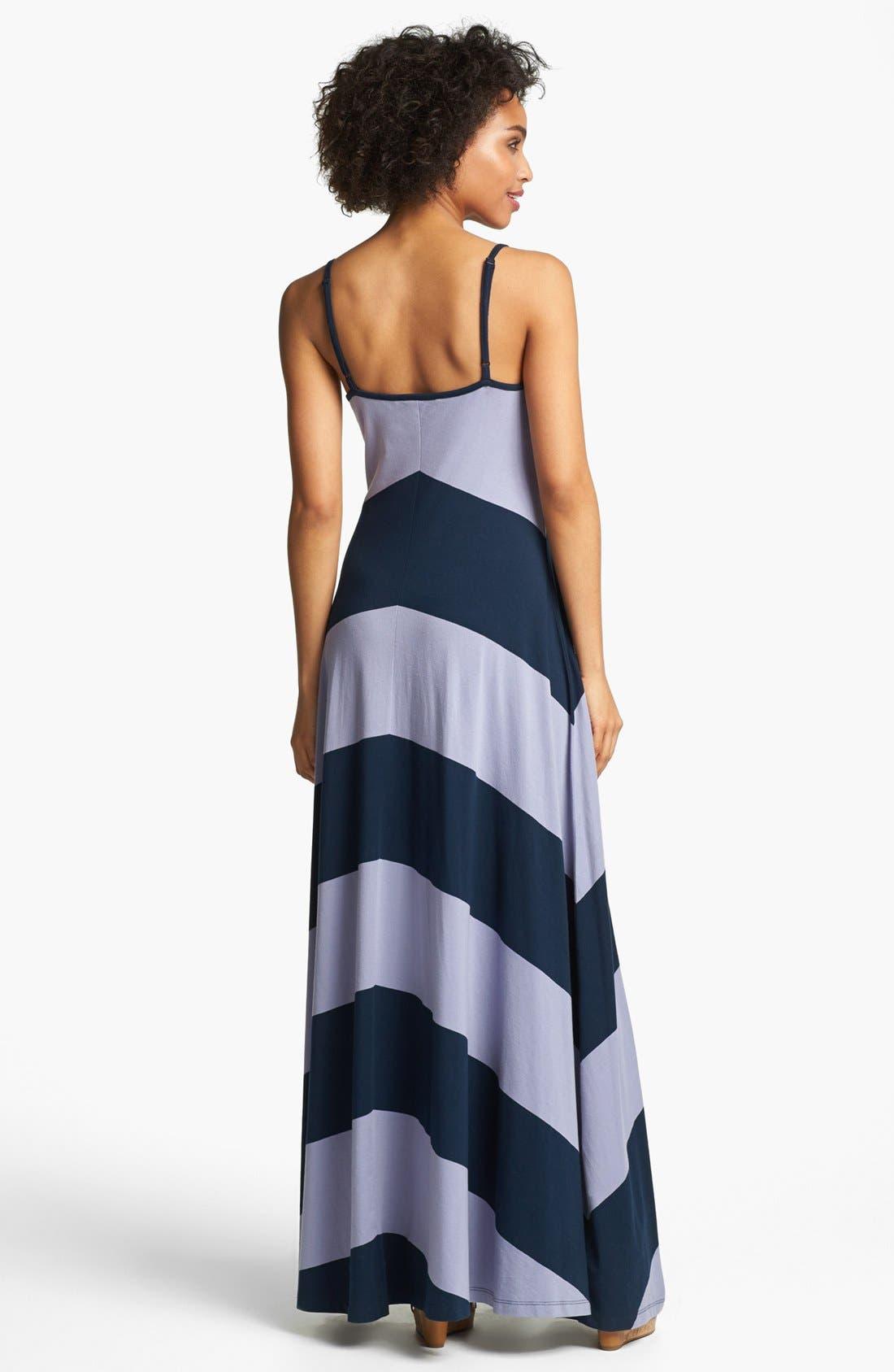 Alternate Image 2  - French Connection Chevron Stripe Maxi Dress