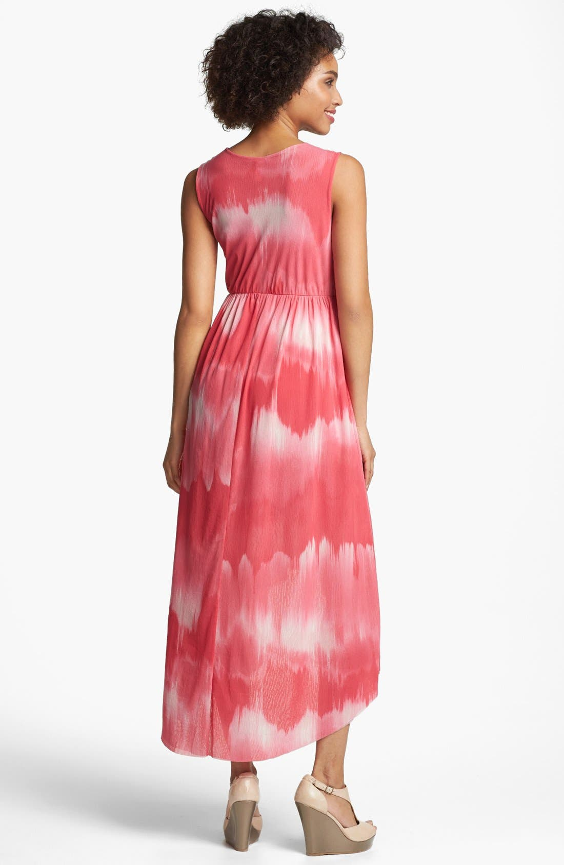 Alternate Image 2  - Sweet Pea by Stacy Frati Print High/Low Surplice Dress