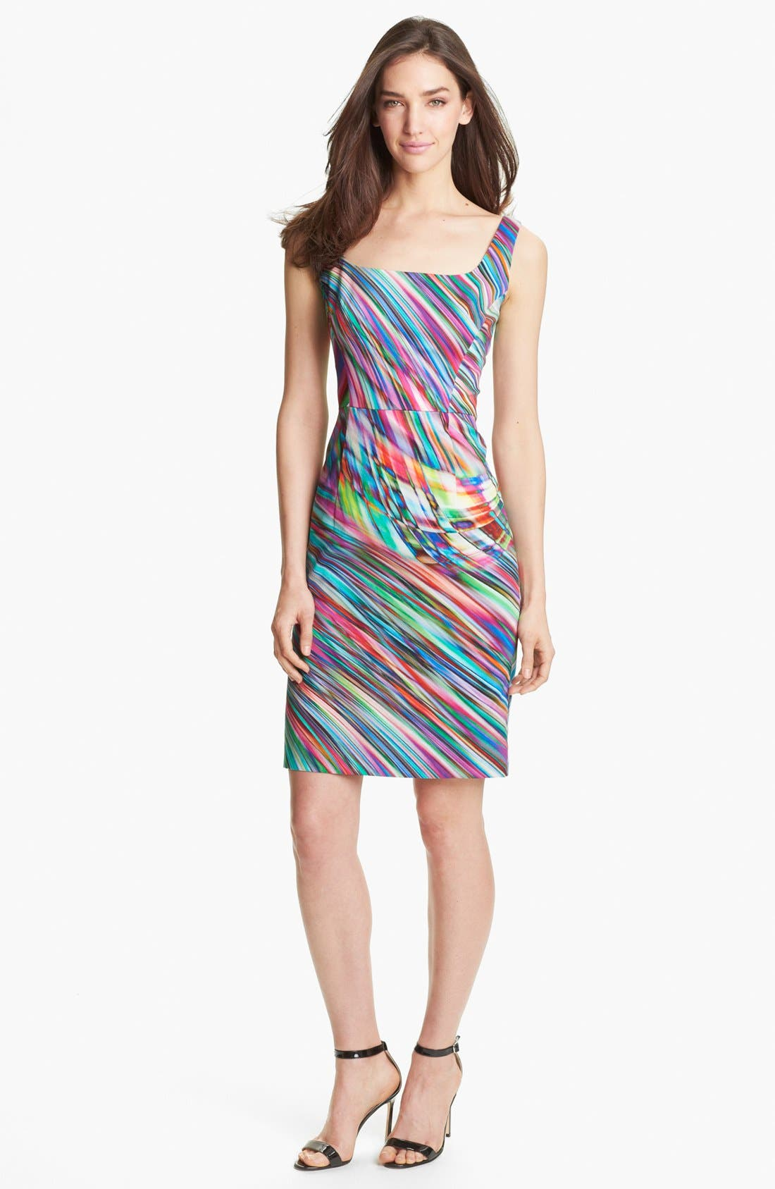 Alternate Image 1 Selected - Milly 'Sydie' Stretch Cotton Sheath Dress