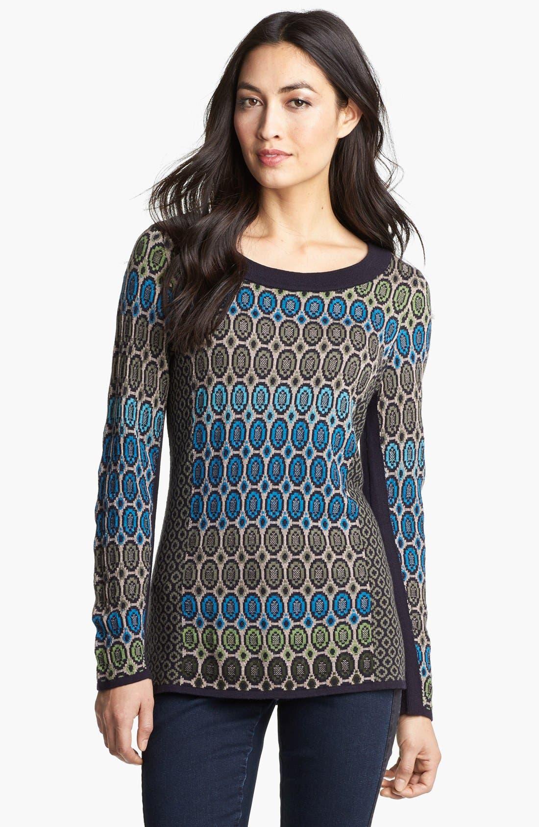 Alternate Image 1 Selected - Nic + Zoe 'Geo Jacquard' Sweater