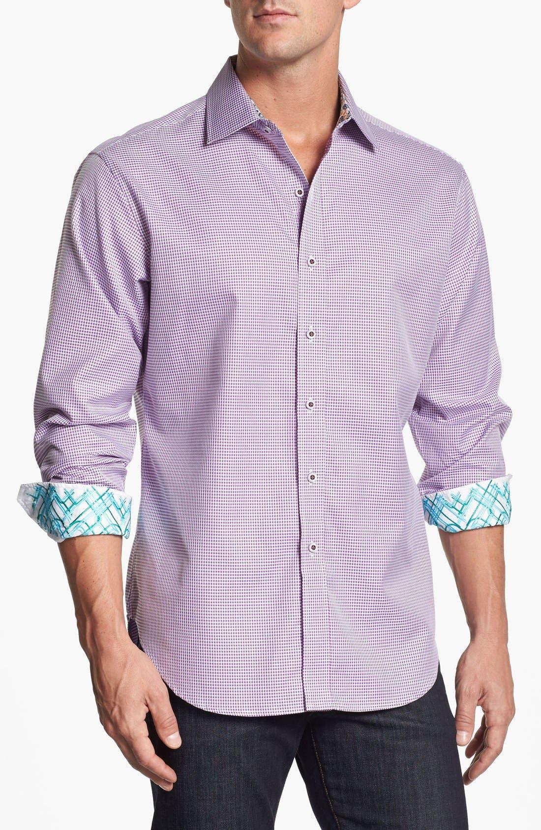 Alternate Image 1 Selected - Robert Graham 'Toulouse' Regular Fit Sport Shirt (Tall)