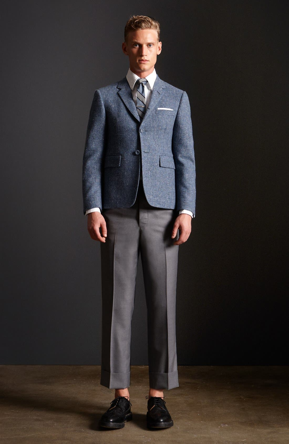 Alternate Image 6  - Thom Browne Three Button Wool Sportcoat