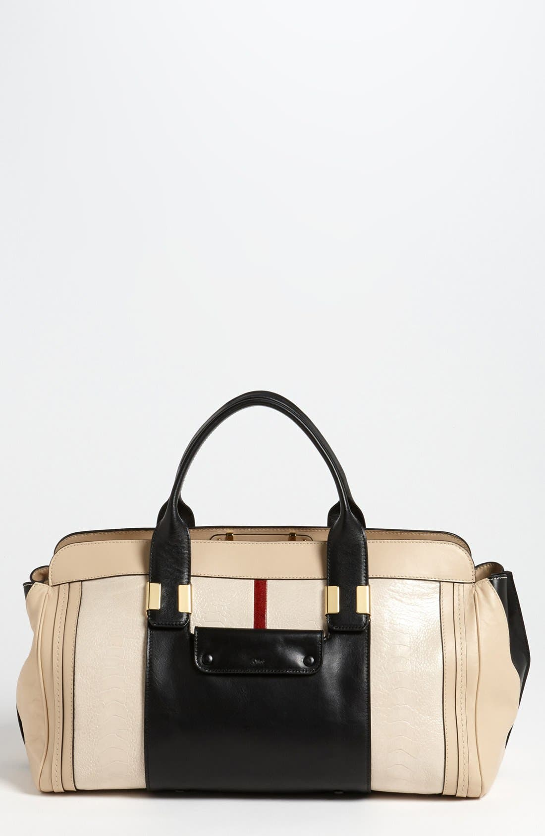 Main Image - Chloé 'Alice - Medium' Ostrich Leather Satchel