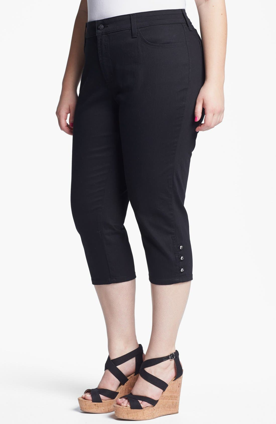 Alternate Image 1 Selected - NYDJ Crop Jeans (Plus Size)