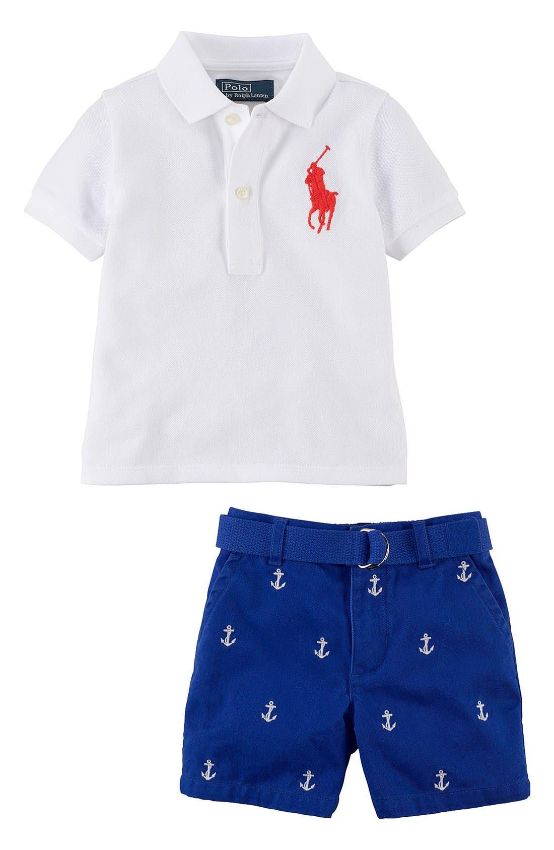 Main Image - Ralph Lauren Polo & Shorts (Baby Boys)