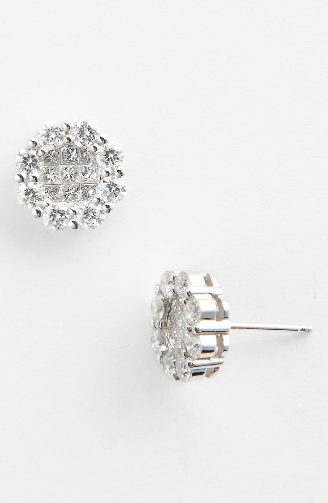Main Image - Bony Levy Flower Diamond Earrings (Nordstrom Exclusive)