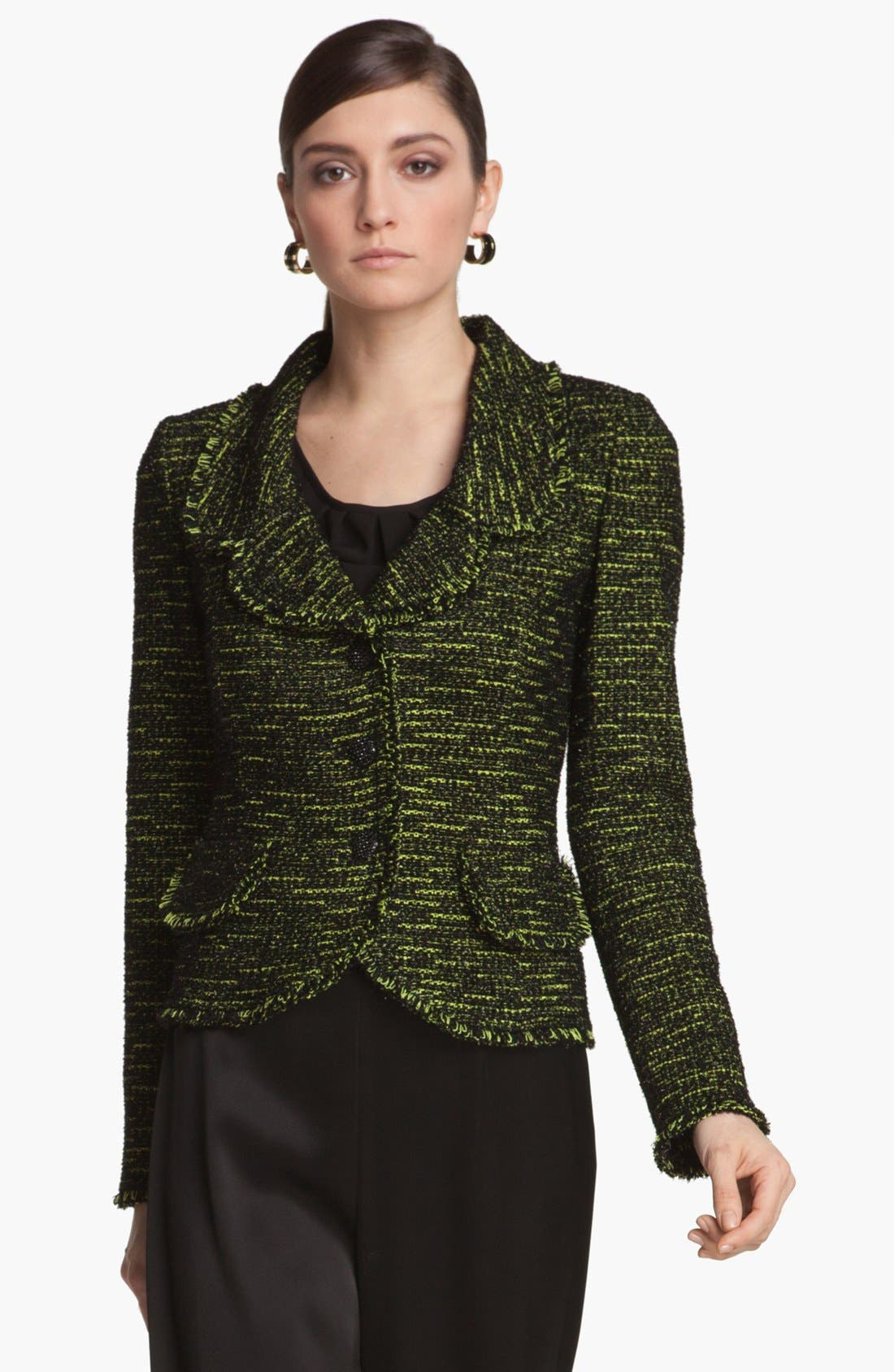Alternate Image 1 Selected - St. John Collection Fringe Tweed Jacket