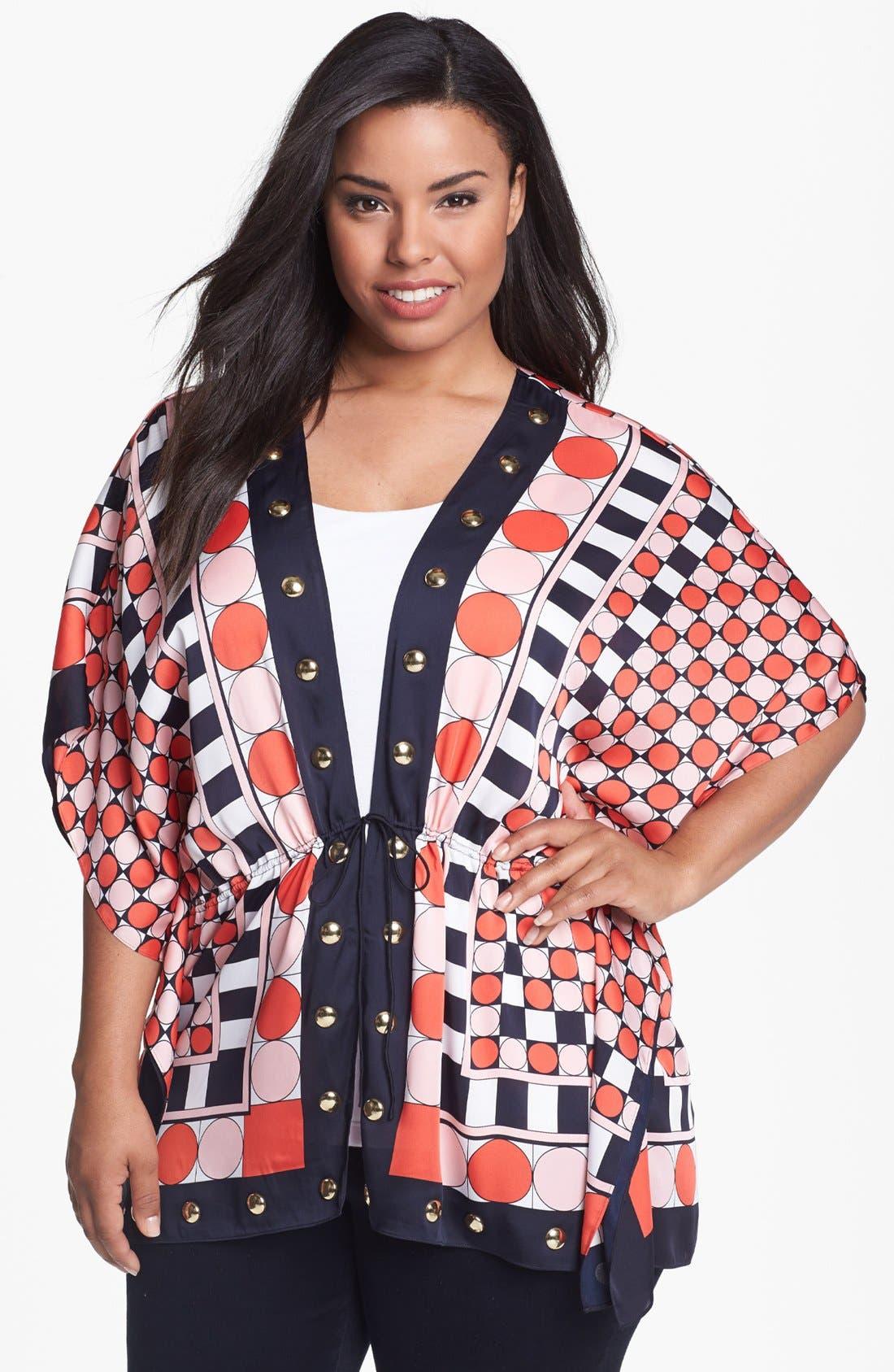 Main Image - MICHAEL Michael Kors 'Eclipse Dot' Kimono (Plus Size)