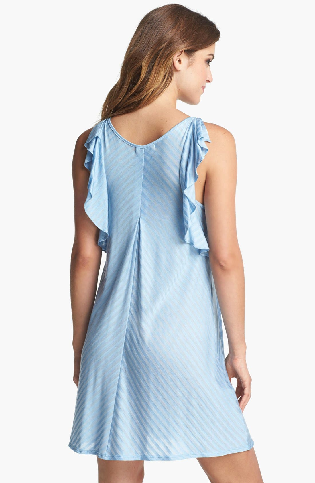 Alternate Image 2  - Midnight by Carole Hochman Ruffle Chemise