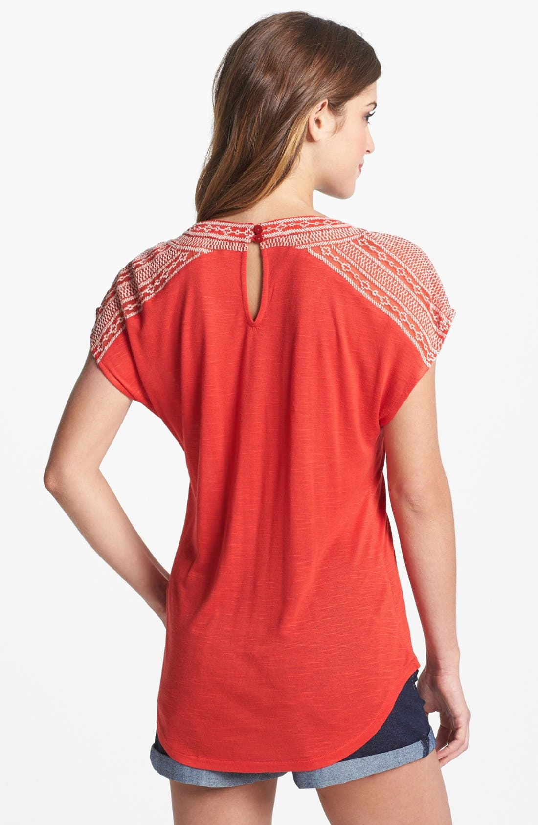 Alternate Image 2  - Lucky Brand 'Adella' Embroidered Tee