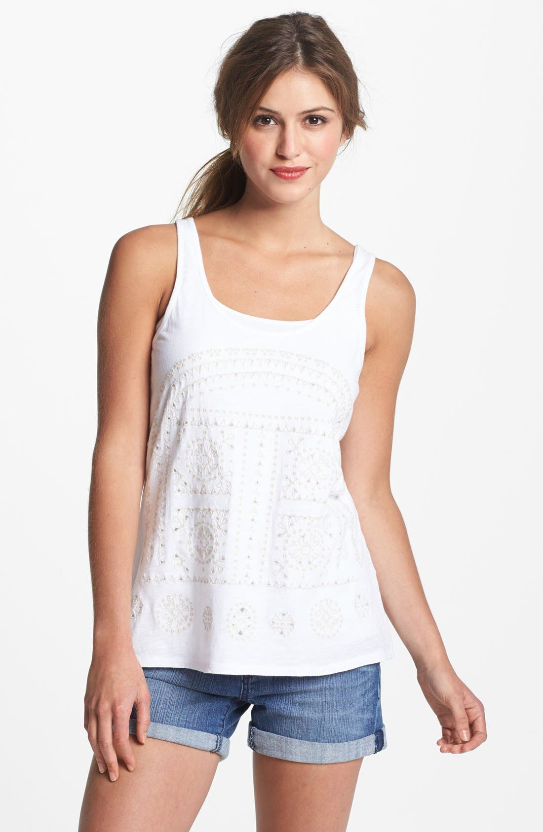 Alternate Image 1 Selected - Lucky Brand 'Sarai' Cutout Tank