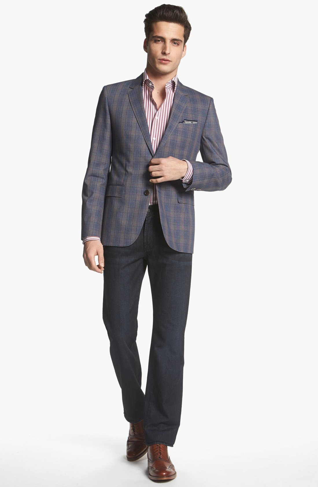 Alternate Image 4  - HUGO 'Aeris' Extra Trim Fit Cotton Sportcoat