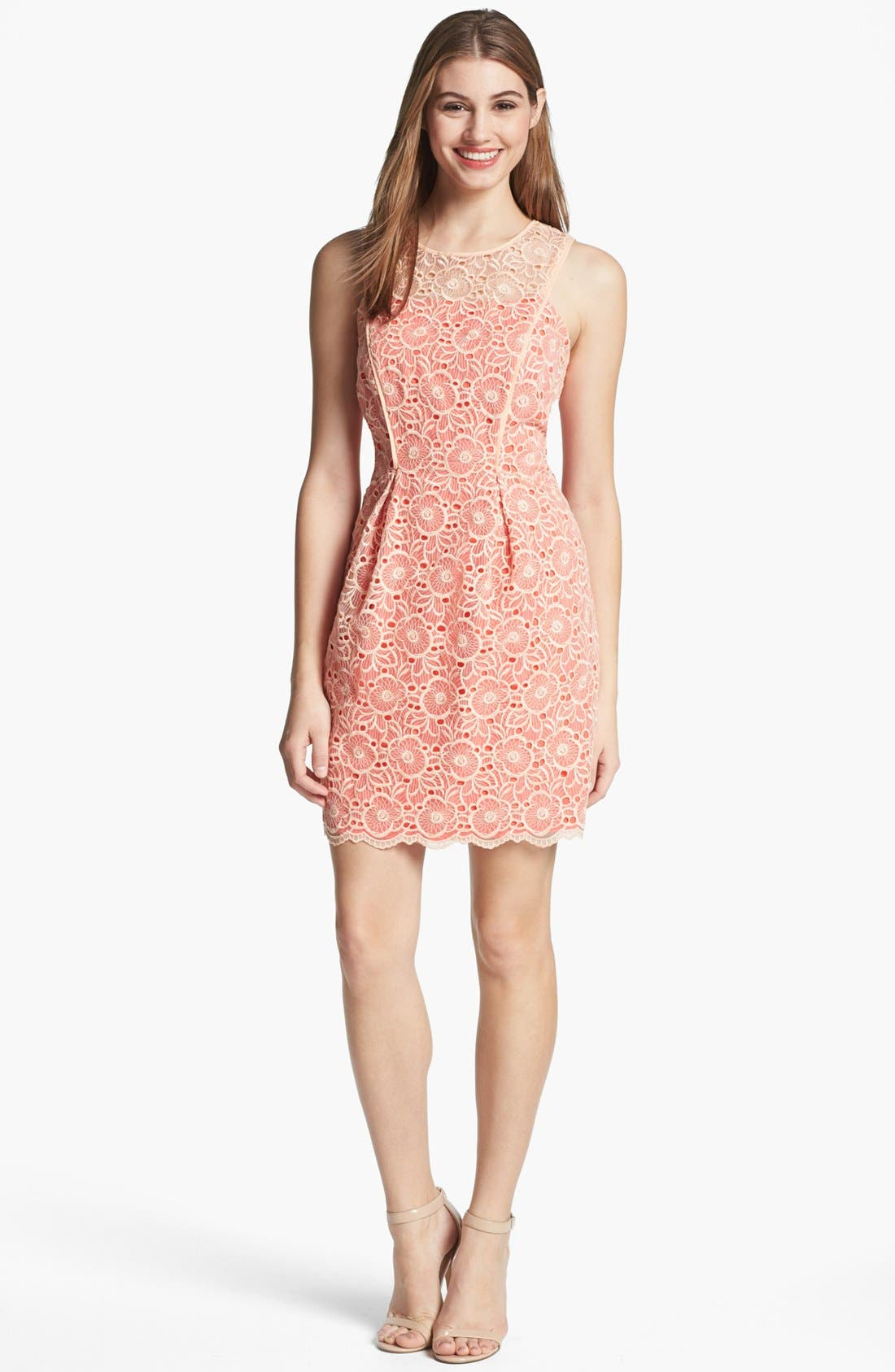 Alternate Image 1 Selected - Jessica Simpson Lace Overlay Dress