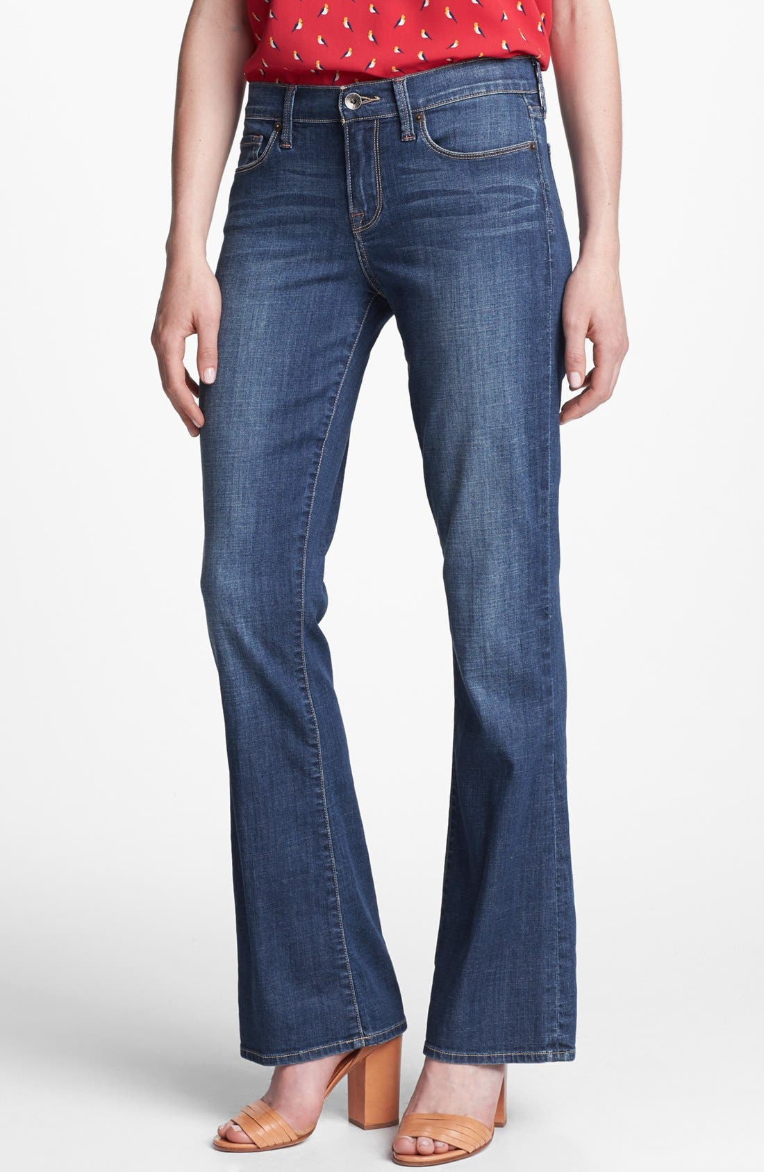 Alternate Image 1 Selected - Lucky Brand 'Sofia' Bootcut Jeans (Medium Olive)