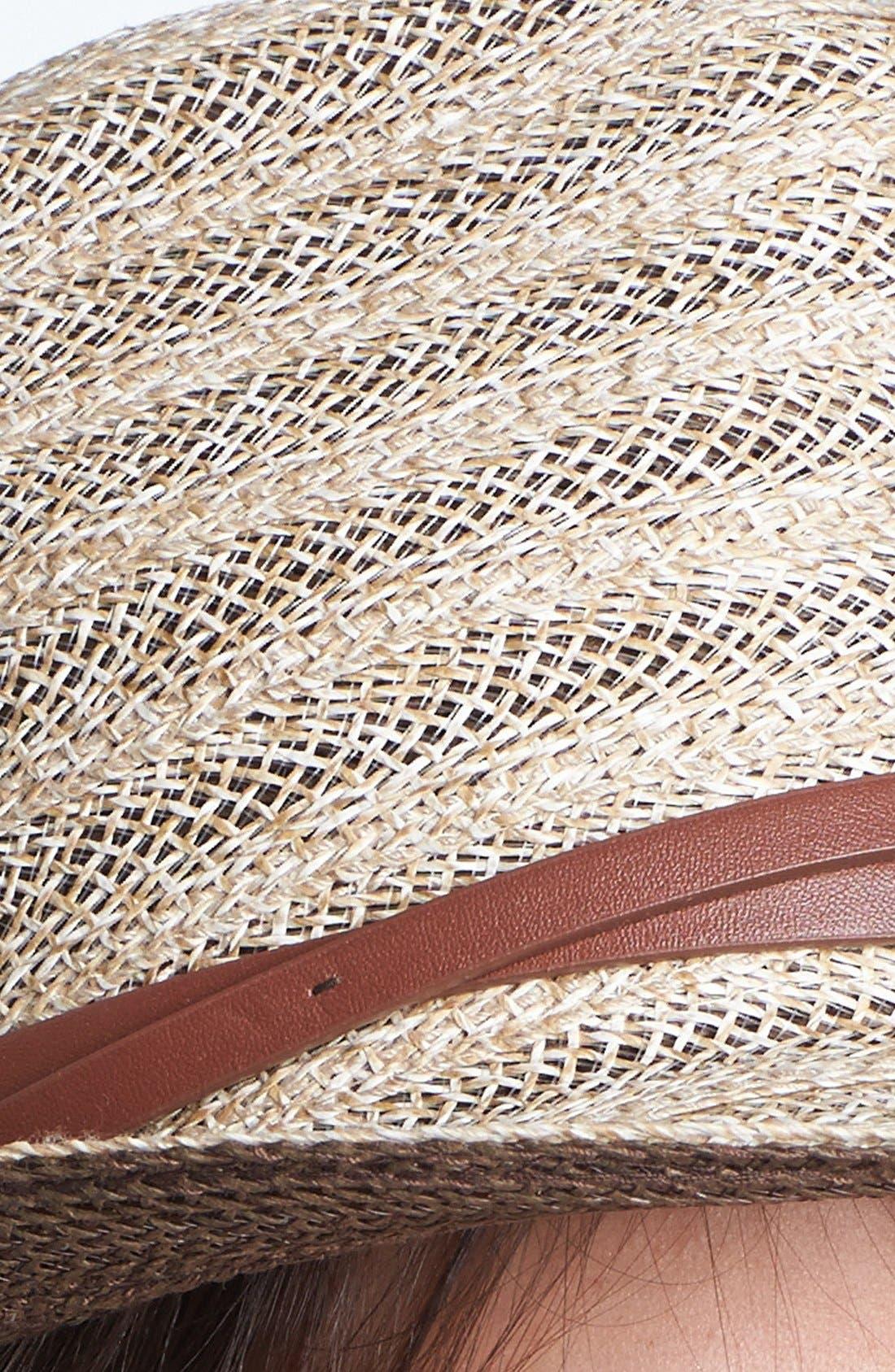 Alternate Image 2  - Nordstrom Belted Straw Fedora