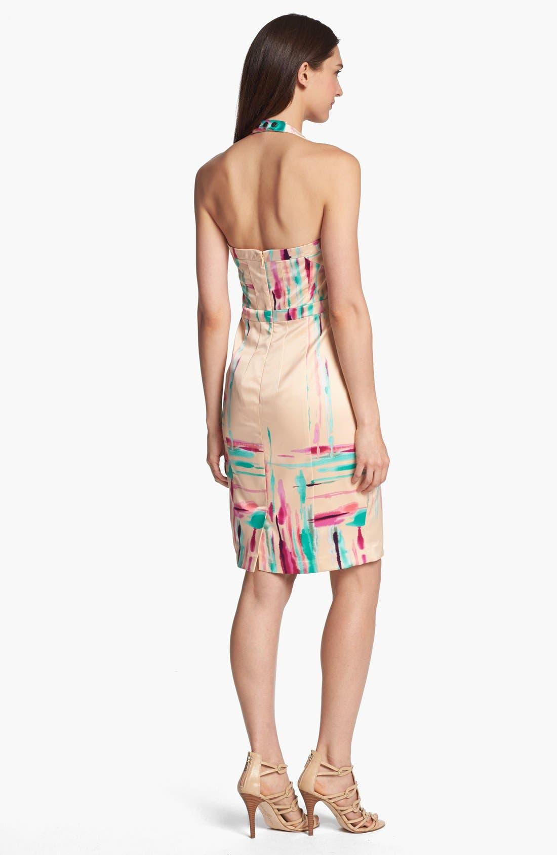 Alternate Image 2  - Jessica Simpson Print Halter Pencil Dress
