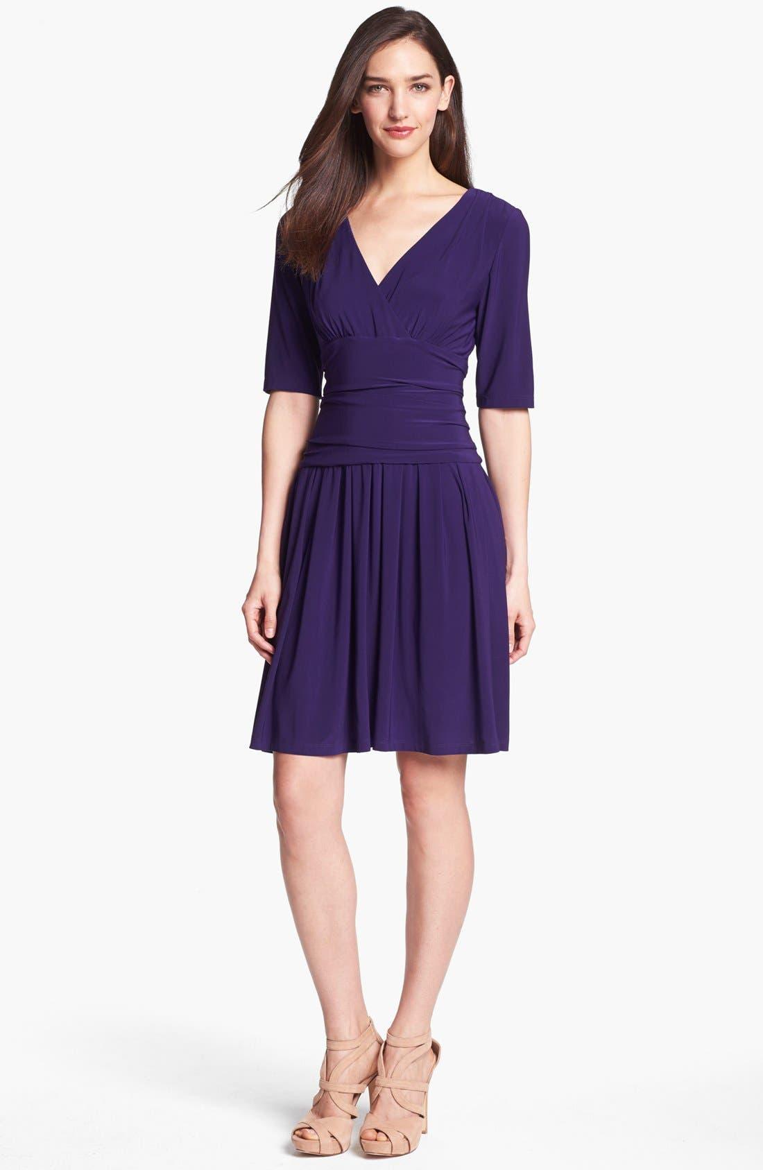 Alternate Image 1 Selected - Eliza J Jersey Fit & Flare Dress (Online Only)