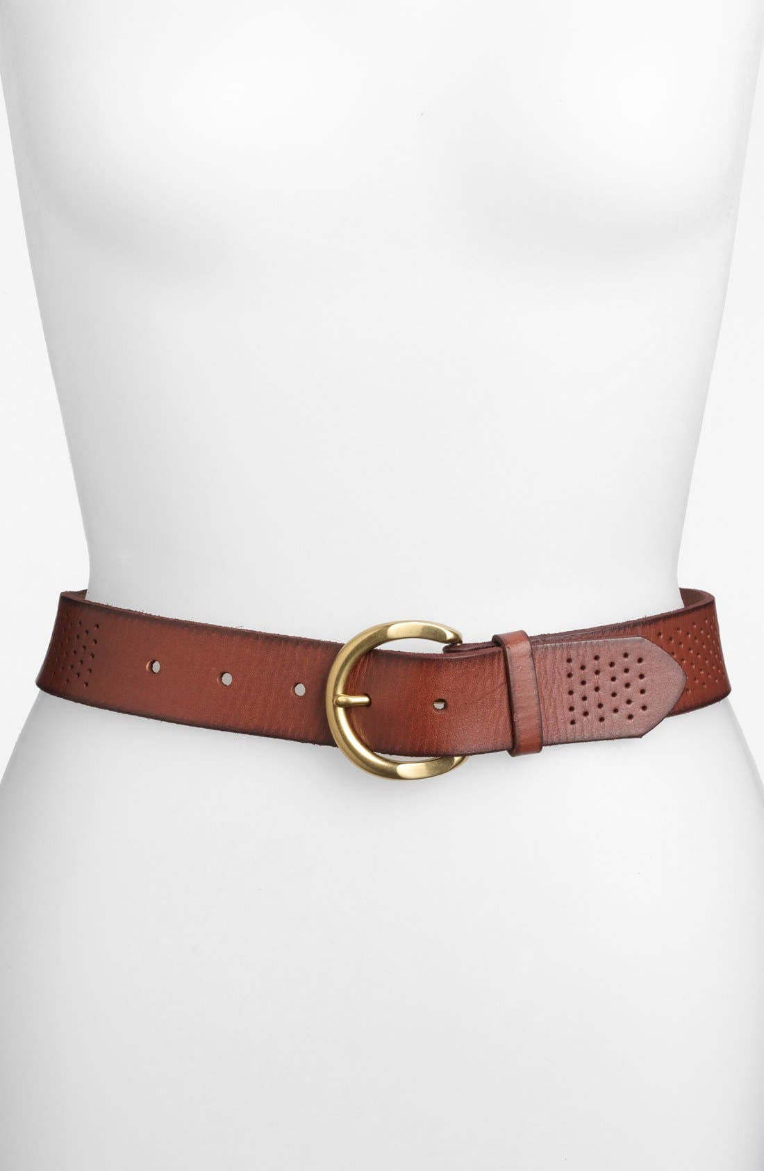 Main Image - Fossil Perforated Leather Belt