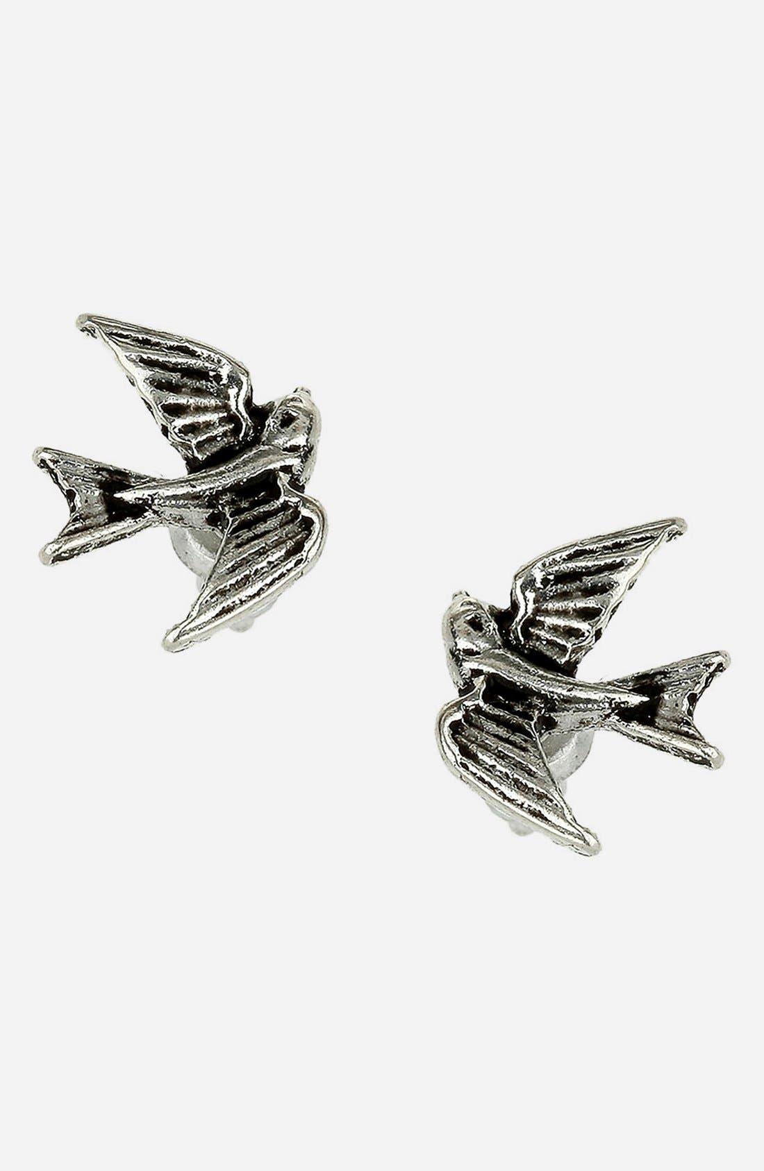 Alternate Image 1 Selected - Topman Swallow Stud Earrings