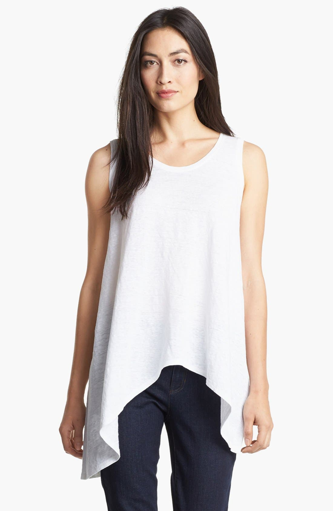 Alternate Image 1 Selected - Eileen Fisher 'Unstable' Sleeveless Tee