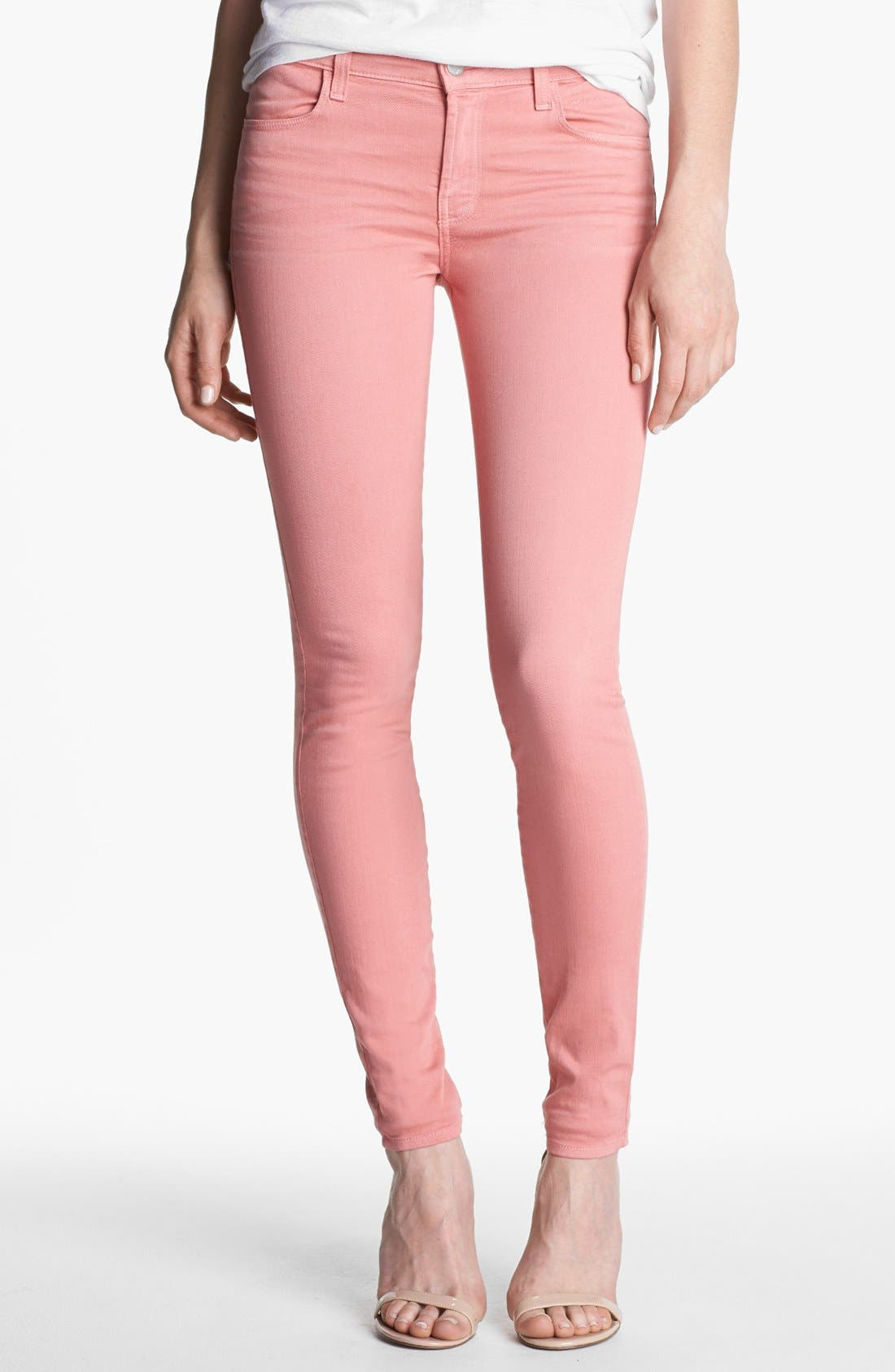 Alternate Image 1 Selected - J Brand Super Skinny Stretch Jeans (Washed Coho)